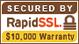 お客様の個人情報保護のため、SSL暗号化通信を導入しております。 BY RapidSSL